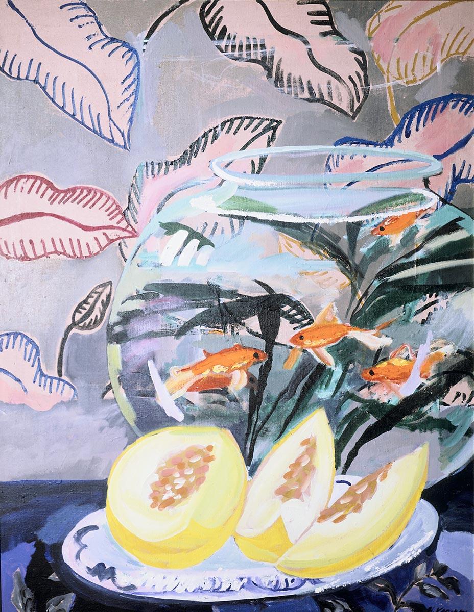Gullfisk med melon, 130x100, 1985